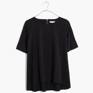 Madewell High How Hem Swing Tee Shirt
